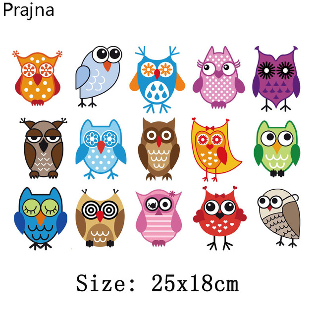 Prajna Cartoon Patches Iron On Transfer For Kids T