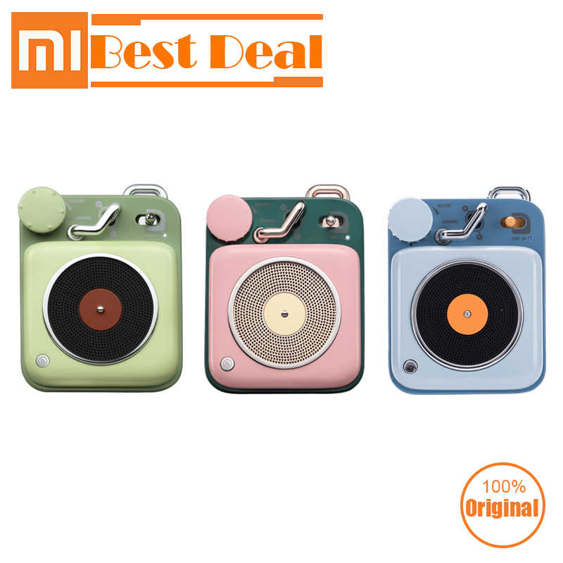 Original Xiaomi Mijia Cat King Atomic Record Player B612 Bluetooth Intelligent Audio Portable Zinc Aluminum shell speaker Music