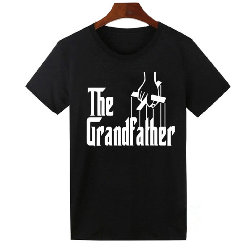 The Grandfather T Shirt Family Present Grandpa Gift Fathers Day T-shirt Awesome Father Funny Cotton Short Sleeve Men Tshirt