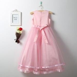 Image 5 - Iiniim prenses elbise çocuklar kızlar için kolsuz katmanlı tüllü çiçekli kız elbisesi Pageant düğün nedime doğum günü partisi elbisesi