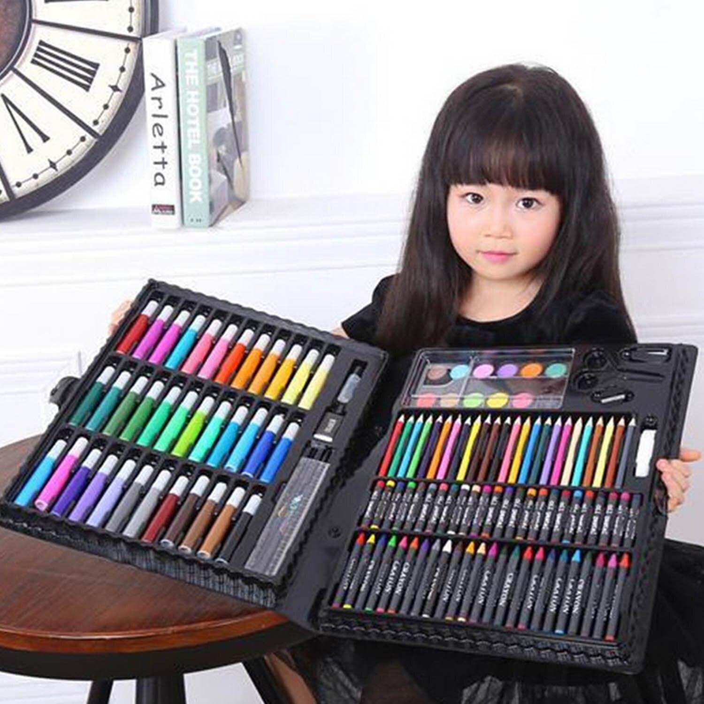 150 pcs Enfants Enfants Crayon De Couleur Peinture Marqueur Stylo Crayon Peinture Brosse Dessin Outil Artiste Kit L'école Maternelle Fournitures