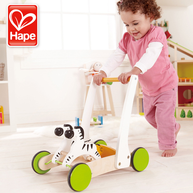 German Hape The Wheelbarrow 1 To 2 Years Old Baby Walkers Step Help Car One Year Birthday Gift