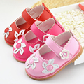 Spring/Autumn Baby Girls Shoes Soft Bottom Infat Pu Flowers Shoes Outdoor Kids Casual Shoes
