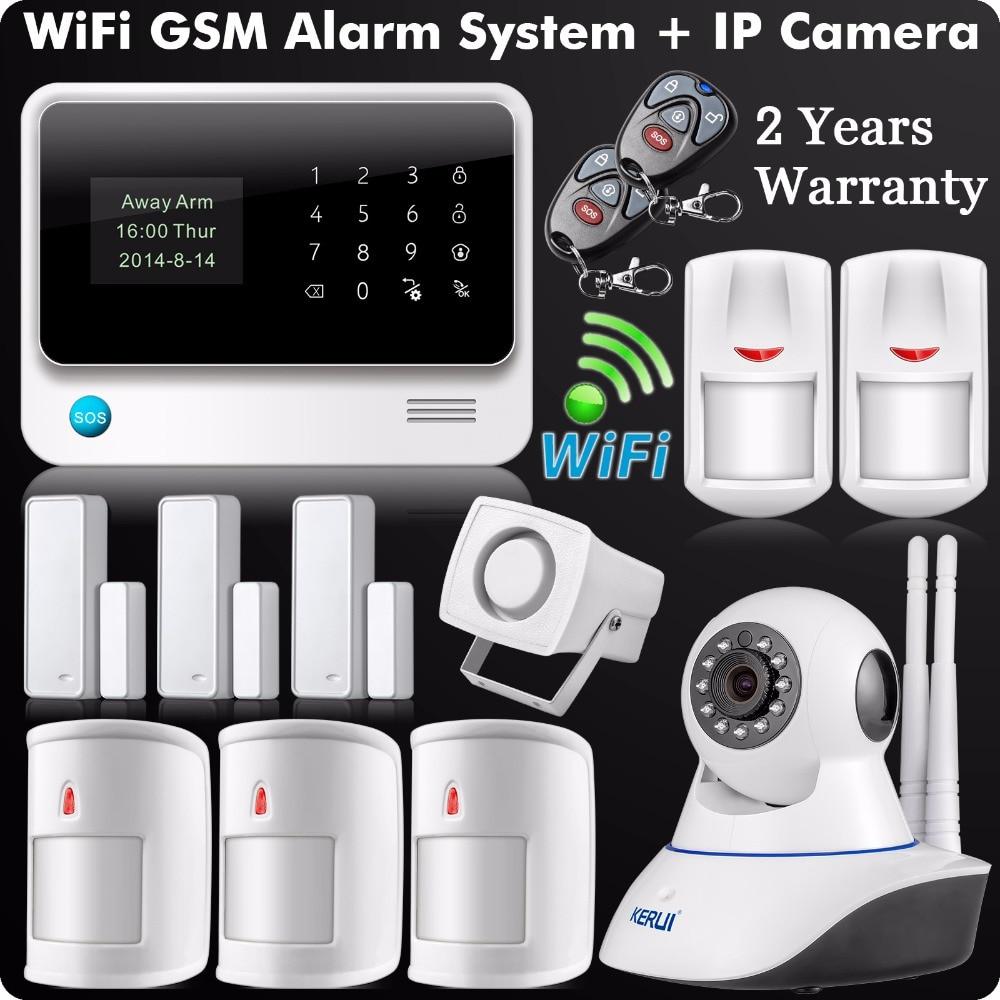 Dhl Ems Wifi Gsm Gprs Sms Wireless Home Security Alarm