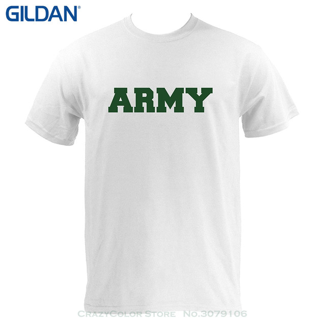 Gildan Round Neck Best Ing Male Natural Cotton Shirt Basic Block Army Military T