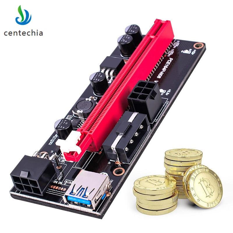 009 S 1x Zu 16x Pci Express Riser Pci-e Extender Usb3.0-kabel Dual 6pin 4pin Molex Sata Zu 6pin Für Eth Bitcoin Mining Ghmy