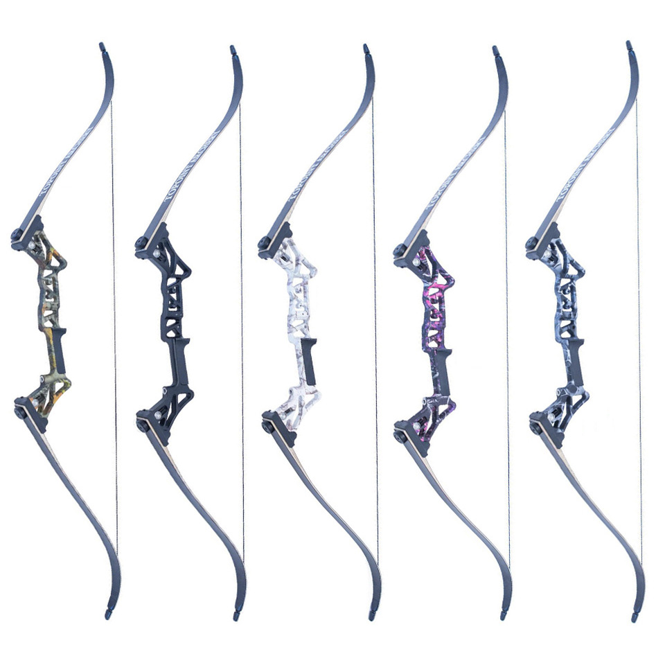 все цены на  5 Colors 30-50 Lbs 58 Inches Vertex Recurve Bow Fishing Bow Aluminum Alloy Bow Handle for Outdoor Archery Hunting Shooting  онлайн