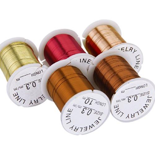 Beste verkauf 10 Rollen Kupferdraht gemischte Farbe Friesen Faden Schnur Schnur 0,3mm DIY Schmuck Herstellung