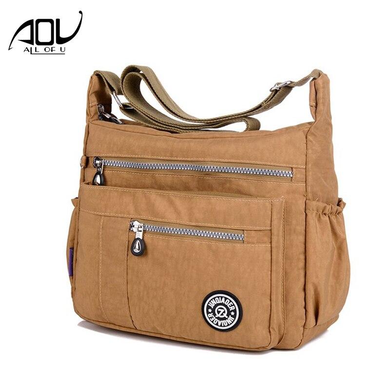 Women Messenger Bags Waterproof Nylon School Girls Crossbody Shoulder Bag  Ladies Purses And Handbags Sac A Main Bolsa Feminina e2530f984ef96