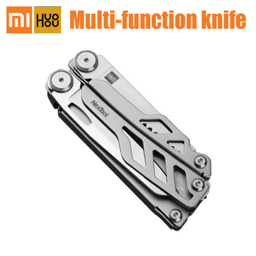 Xiaomi HuoHou Multi-Function Knife Pocket Folding Stainless Steel Bottle Opener Screwdriver Pliers For Hunting Outdoor Camping