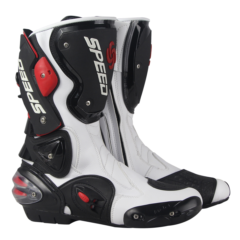 Riding Tribe Speed Motorcycle Boots Micro Fiber Leather Motorbike Shoes Men Off Road Moto Racing Motocross Boots Shoes new scoyco moto racing leather boots motorcycle boots shoes motorbike riding sport road speed professional botas