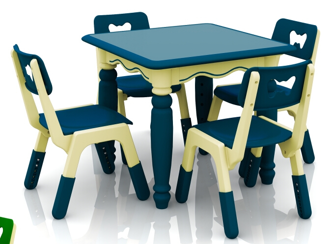 New Height Adjustable Children Plastic Square Table