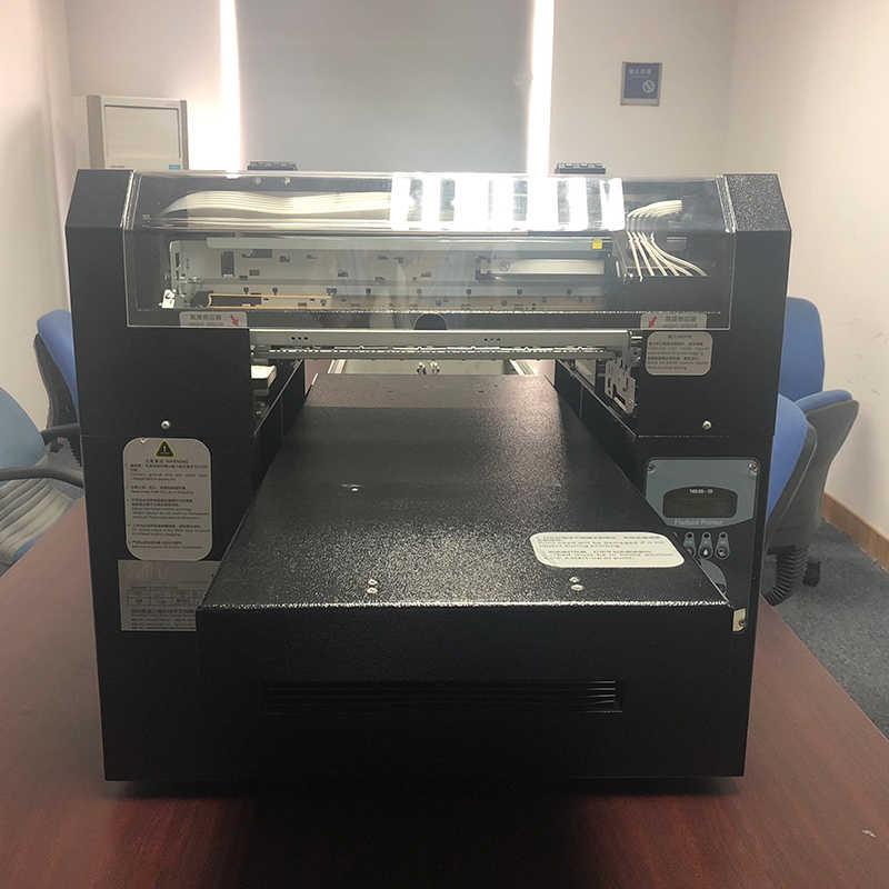 Domsem Penuh Otomatisasi Printer DTG Kaos Pakaian Kain Printer CMYK + Wwww A3 Ukuran Mesin Cetak DX5 Kepala Gratis t-shirt Tray
