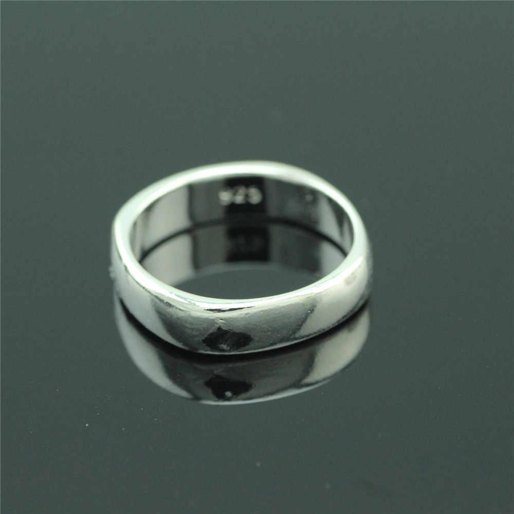 925 סטרלינג כסף טבעת ייחודי עיצוב אישה טבעת חלק קלאסי כסף טבעות גברים וגם נשים