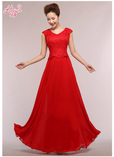 6c2cfe26f فساتين سهرة طويلة 2016 جودة عالية أزياء الطابق طول فاخر الرباط الأحمر  الأسود الشمبانيا مساء اللباس