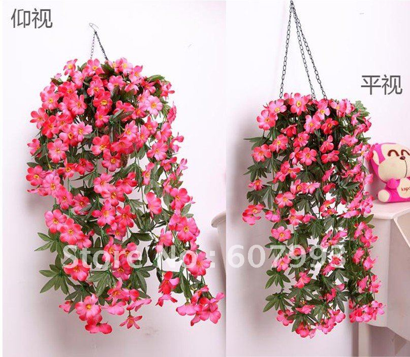 Artificial Fabric Flowers Vine Simulation Fake Silk Ivy Home House Garden Decoration Oranments Flower 10pcs Lot Free Shipping In Garden Ornaments From Home