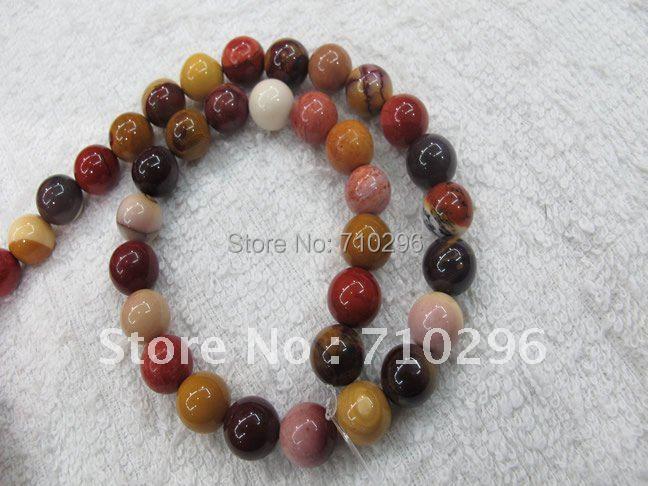 С натуральным драгоценным камнем Mookaite 6 мм кольцо с камнем свободные бусины 40 см/струна