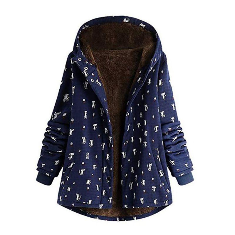 Warm Cotton Jacket Outwear Winter Women's Jackets Cotton Coat Padded Warm Slim Hooded   Parkas