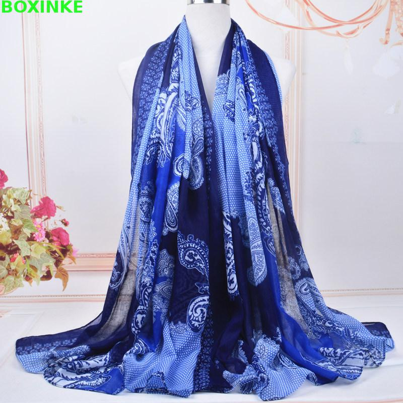 2019 Women Winter Scarf Scarf Hijab New Bali Printed Female Cashew Nut Hundred Shawl Long European And American Multifunctional in Women 39 s Scarves from Apparel Accessories