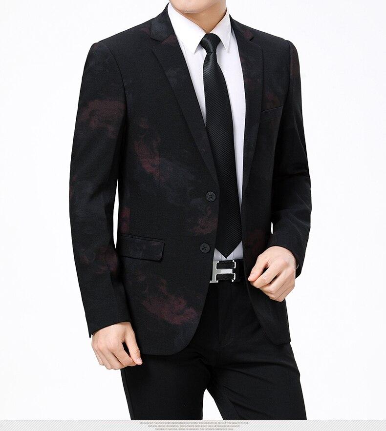 WAEOLSA Stylish Men Slim Fit Blazers Dark Flroal Print Suit Jackets Man Fashion Blazer Masculino Smart Casual Costume Mens Blazers Office (5)