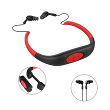 IPX8 Waterproof Sports MP3 Music Player Underwater Neckband Swimming Diving with FM Radio 4GB Rechargeable Stereo Headphone O2