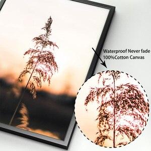 Image 4 - 농장 공장 밀 잎 풍경 따옴표 벽 아트 캔버스 회화 북유럽 포스터와 인쇄 벽 장식 거실 장식