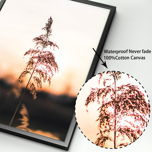 Image 4 - Farm Plant Wheat Leaves Landscape Quotes Wall Art Canvas Painting Nordic Posters And Prints Wall Pictures For Living Room Decor