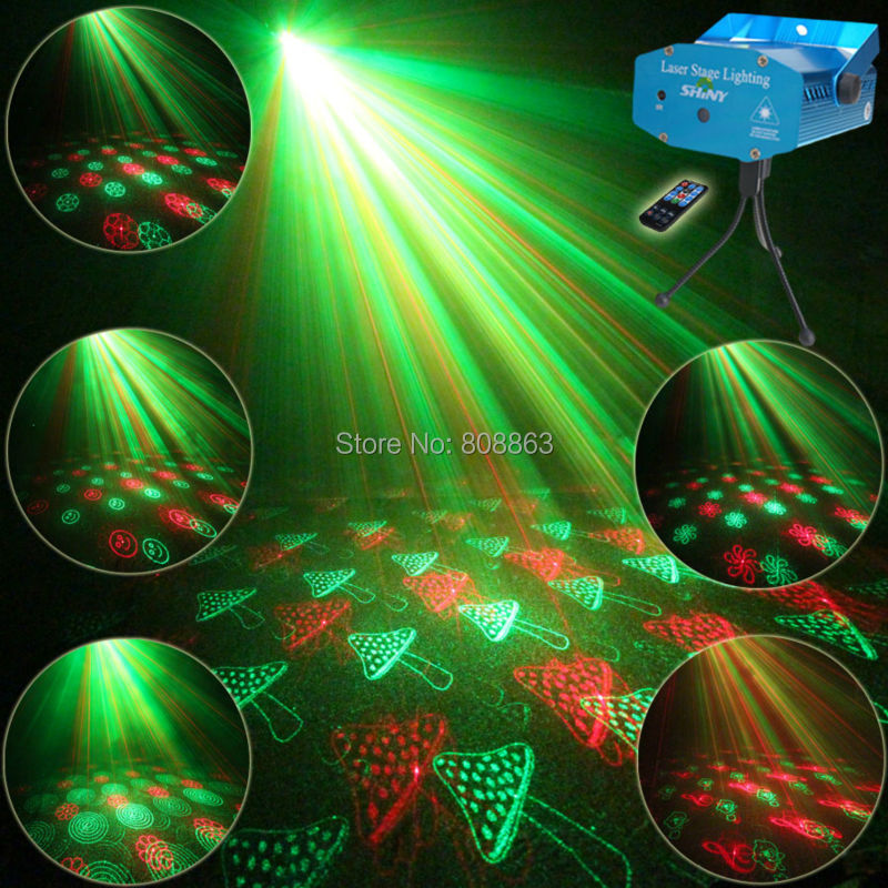 Mini R&G Remote Moving 24 Patterns Laser Projector Club Bar Coffee Shop Dance Disco Hous ...