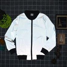 2018 Мужская 3 м светоотражающие одежда бейсбол принес большой ярдов скейтборд модные куртки 25 шт. можно напечатать