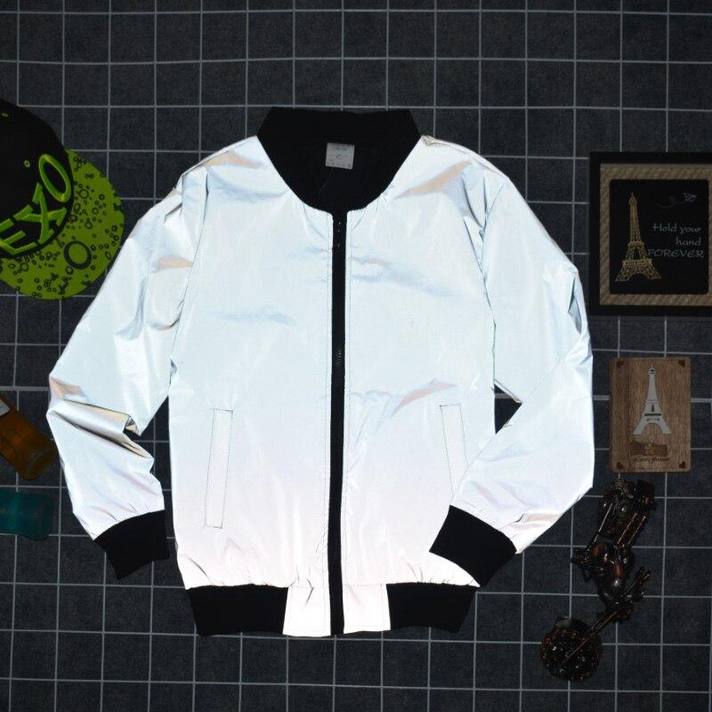 2019 Männer Der 3 M Reflektierende Kleidung Baseball Gebracht Große Yards Skateboard Modische Jacken 25 Stück Können Gedruckt Werden