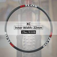 Extralight 275 г Асимметричный горный или Кроссовый велосипед Flyweight карбоновый обод доступен для 650B/27,5 er, 29er M i22AL