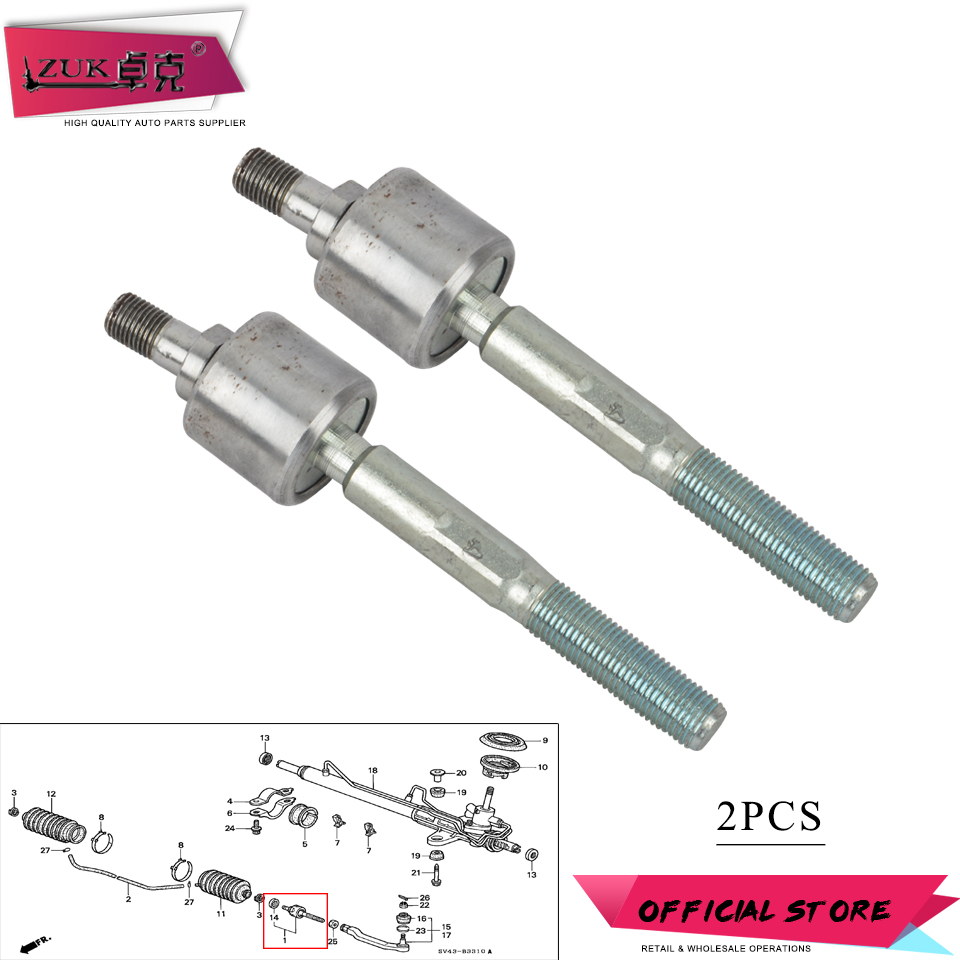 2 JPN Front Inner Tie Rod Ends for Audi A6 1999-2003 2004 Same Day Shipping