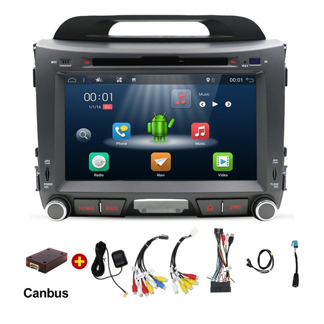 2din Android 7.1 Quad Core Car DVD player for KIA Sportage R 2014 2011 2012 2013 2015 Gps wifi Radio Bluetooth car electronics