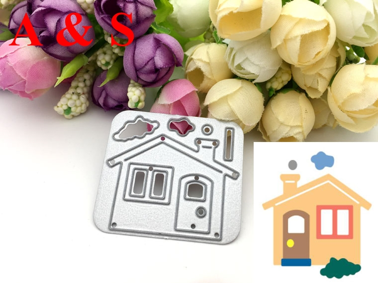 Q89 METAL CUTTING DIES Puzzle House Scrapbook card invitation paper craft party decor embossing stencil cutter