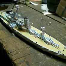 Высокое качество 1:250 масштаб Британский Дредноут линкор 3D бумажный модельный комплект