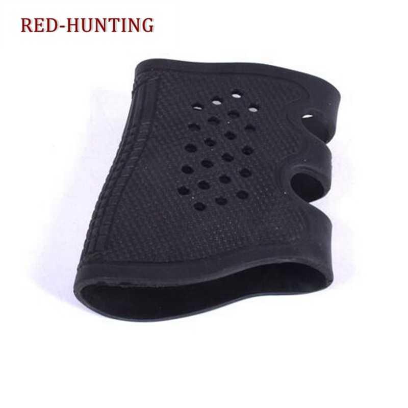 Taktische Pistole Gummi Grip Handschuh Abdeckung Hülse Anti Slip für Die Meisten von Glock AR15 M4 AK-47 SIG Sauer P09 Airsoft jagd Zubehör