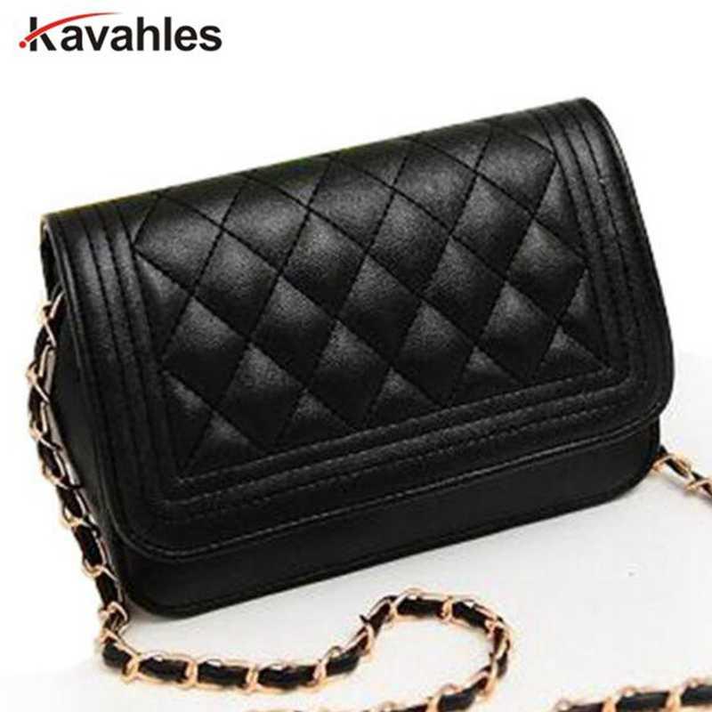 1cb3504dc3bc Горячая Распродажа вечерняя сумка черная сумка женская кожаная сумка цепь  сумка на плечо женская сумка-