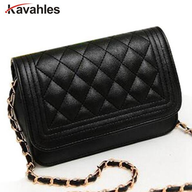 8e603097227e Hot sell evening bag black bag women leather handbag Chain Shoulder Bag  women messenger bag fashion