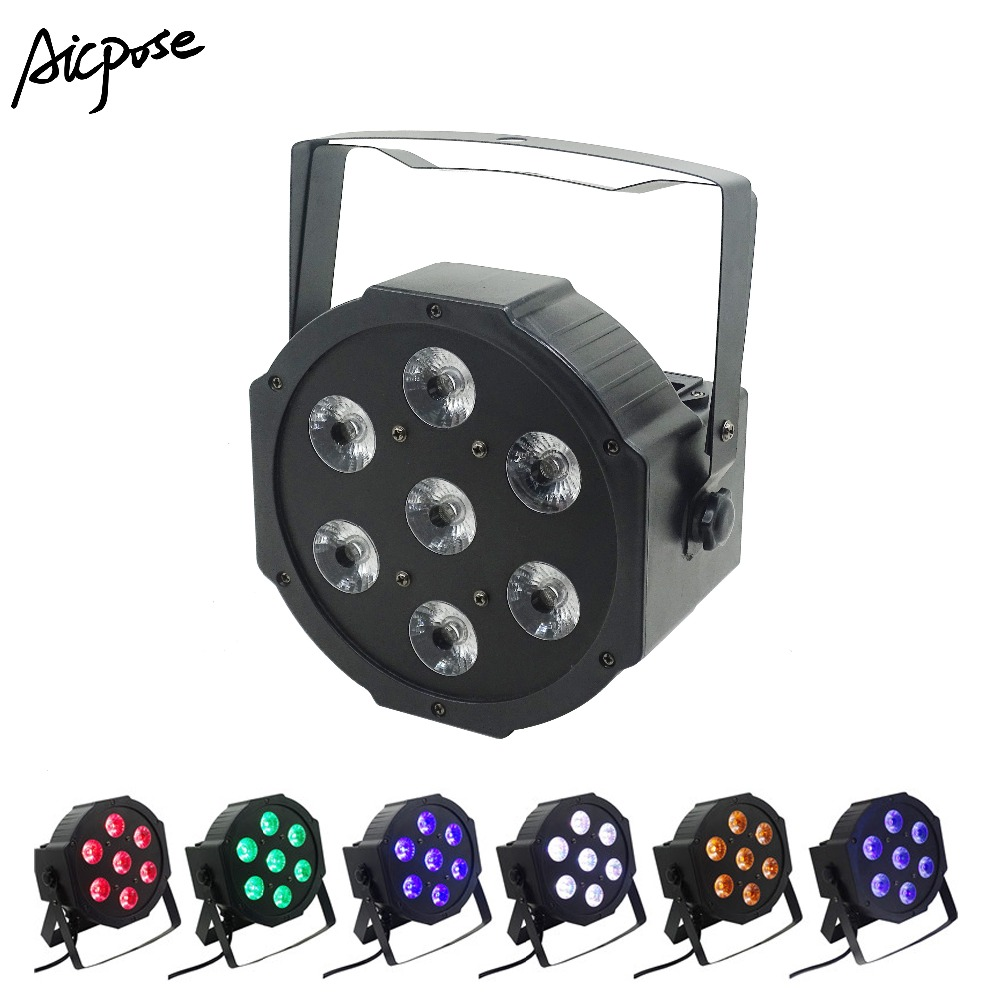 7x18w 6 In 1 Par Led Light RGBWA UV Plastic Par Light 7*18W Led Par Staining Light Wall Washer For Stage Wedding Party Disco