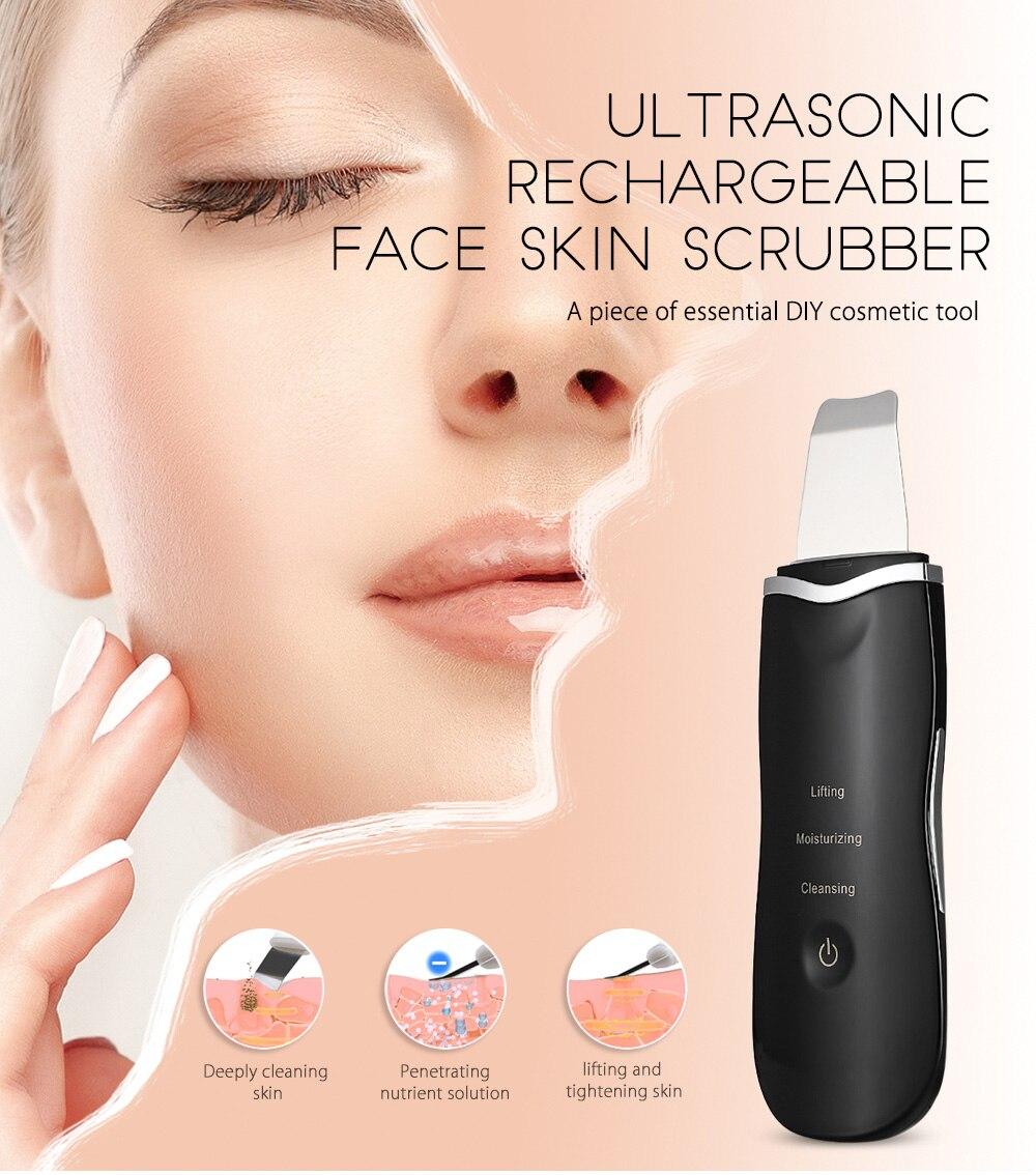 Depurador Ultrasónico Limpiador Piel Facial