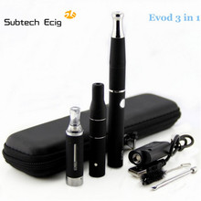 Электронные сигареты СУБ ДВА Evod 3 в 1 электронная сигарета Испаритель Сухой травы Воск Жидкие Сигареты Комплект