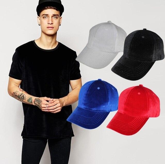 4426c86cd US $19.98 |Velvet Cap snapback solid color baseball caps & hats closure man  & women unisex casual hip hop dance plain hat stylish-in Baseball Caps ...