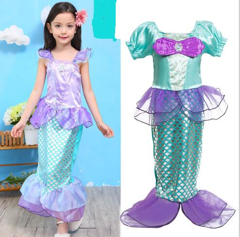 the little mermaid fancy kids girls dresses princess cosplay halloween costumechina - Mermaid Halloween Costume For Kids