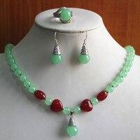 Prett جميل المرأة مجوهرات الزفاف أفضل هدية مجموعة! الجملة مصنع السعر المرأة مختلط الألوان جوهرة/لؤلؤة قلادة القرط الدائري