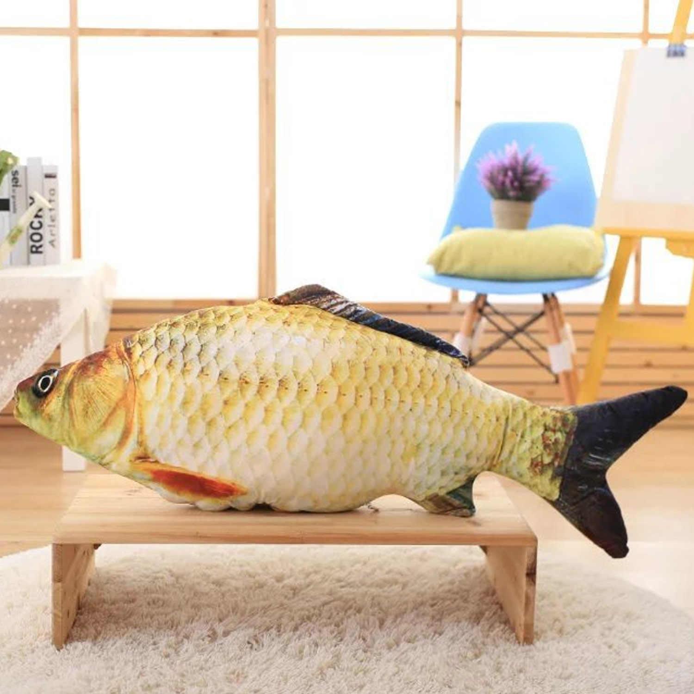 60 см Забавный 3D животное большая рыбка в форме бросок плюшевая подушка милый декоративная кровать подушка задняя подушка болстеры мягкая подушка игрушка