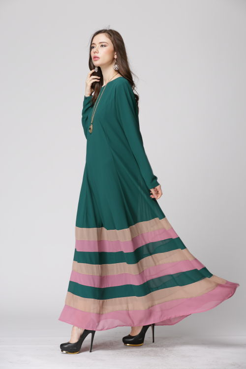 af3357b98e0e Hot sale New Design Chiffon Fabric Kaftan Women Muslim Dress Fashion long  Dress muslim women islamic dress-in Dresses from Women s Clothing on ...