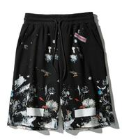 OFF white streetwear Starry Fireworks Shorts Star with the same paragraph cotton shorts men beach Shorts male