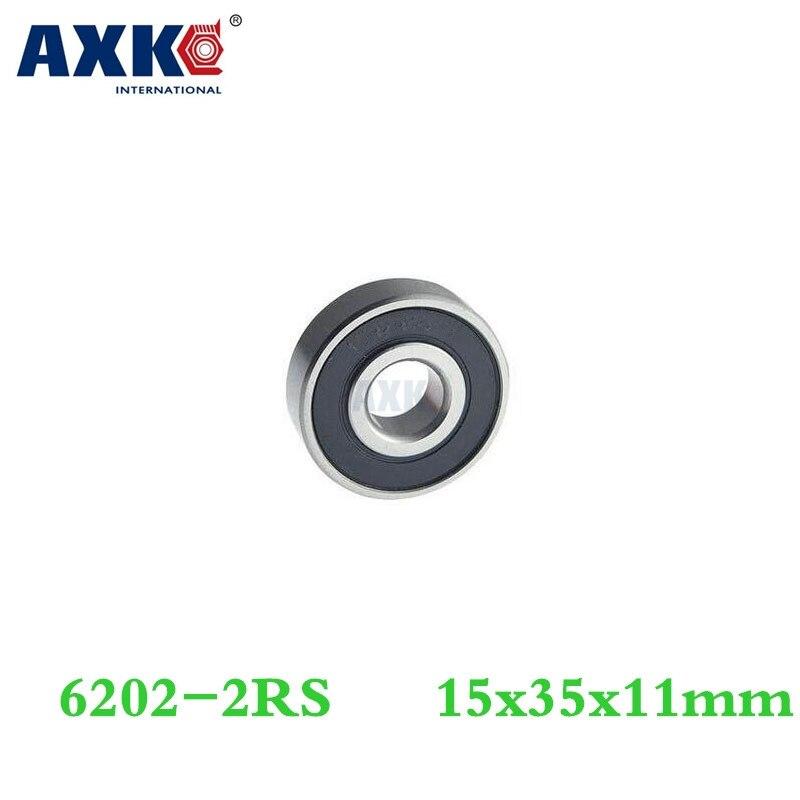 Axk 1pcs Free Shipping Hybrid Ceramic Deep Groove Ball Bearing 6202-2rs 15*35*11 Mm axk free shipping 1pcs 6901 2rs hybrid ceramic si3n4 ball 61901 ceramic bearing 12 24 6mm 6901 2rs