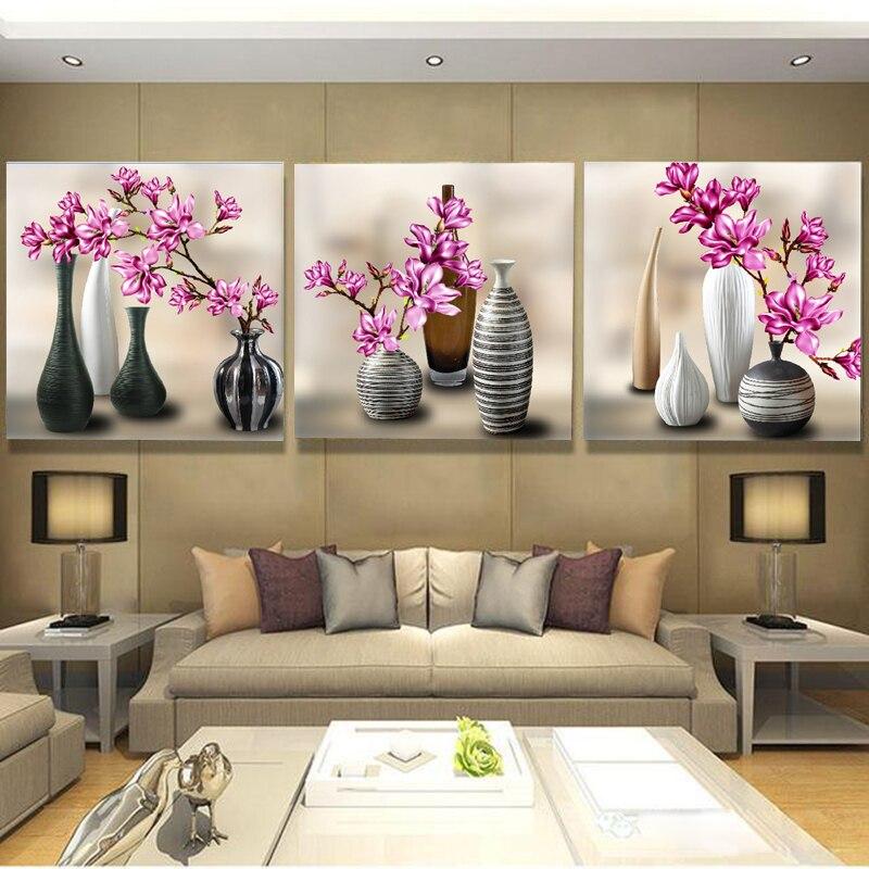 Новая 3D Алмазная картина вышивка крестиком красная Цветочная ваза Кристалл рукоделие Алмазная вышивка цветок полный Алмазный декоративны...