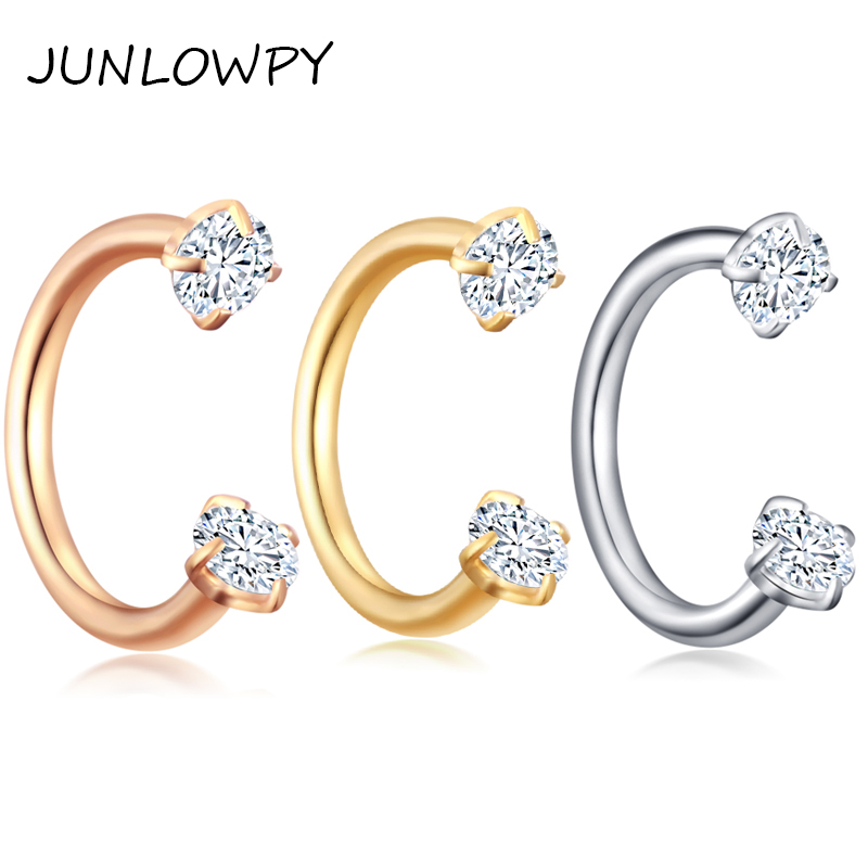 Junlowpy 1pcs Internally Silver Gold Body Piercing Jewelry Small